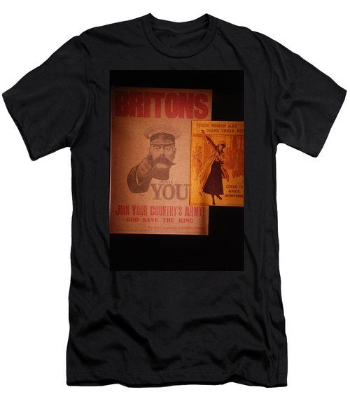Ww1 Recruitment Posters Men's T-Shirt (Athletic Fit)