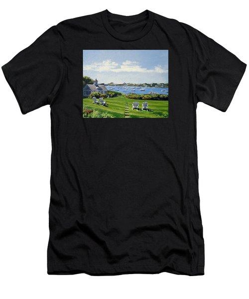 Wychmere Harbor Harwich Port Massachusetts Cape Cod Massachusetts Men's T-Shirt (Athletic Fit)