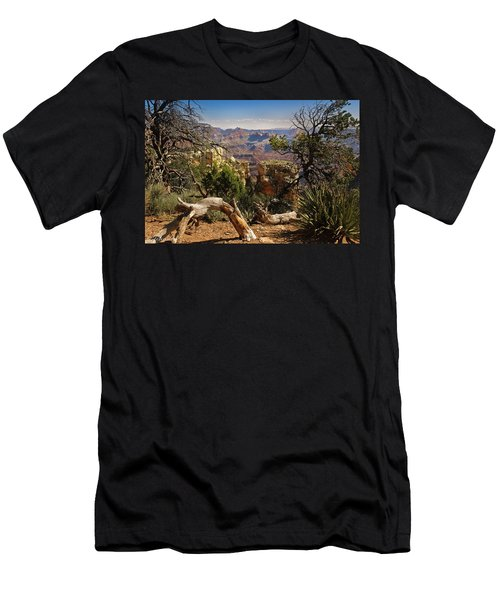 Men's T-Shirt (Slim Fit) featuring the photograph Yaki Point 4 The Grand Canyon by Bob and Nadine Johnston
