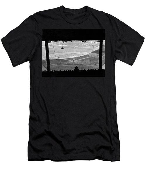 Yankee Stadium Grandstand View Men's T-Shirt (Slim Fit) by Underwood Archives