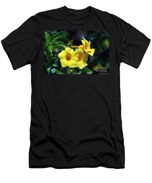 Men's T-Shirt (Slim Fit) featuring the photograph Yellow Allamanda by Teresa Zieba