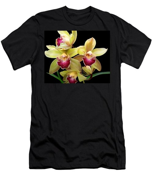 Yellow And Pink Orchids Men's T-Shirt (Athletic Fit)