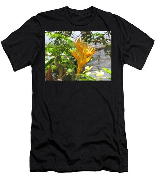 Yellow Bird Of Paradise Men's T-Shirt (Athletic Fit)