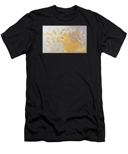 Yellow Cloud Men's T-Shirt (Athletic Fit)