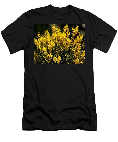 Men's T-Shirt (Slim Fit) featuring the photograph Yellow Cluster Flowers by Matt Harang