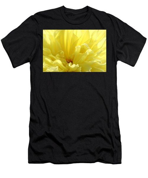 Yellow Dahlia Burst Men's T-Shirt (Athletic Fit)