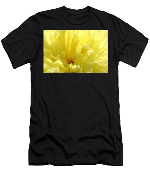 Yellow Dahlia Burst Men's T-Shirt (Athletic Fit)