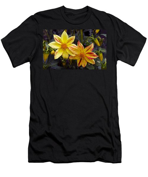 Yellow Dahlia Men's T-Shirt (Athletic Fit)