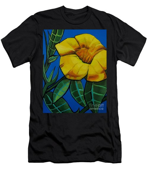 Yellow Elder - Flower Botanical Men's T-Shirt (Athletic Fit)