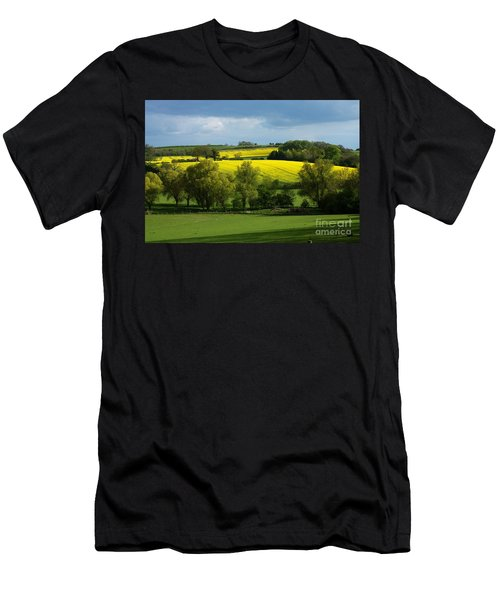 Yellow Fields In The Sun Men's T-Shirt (Athletic Fit)