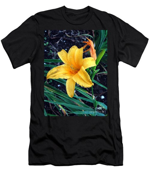 Men's T-Shirt (Slim Fit) featuring the photograph Yellow Flower by Sergey Lukashin