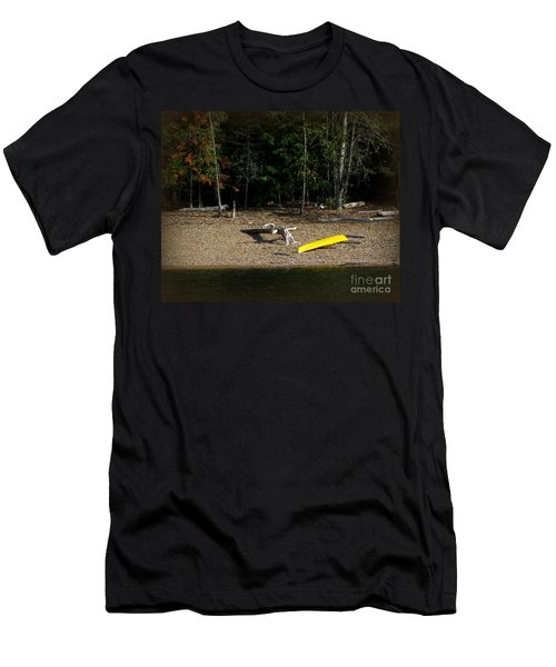 Yellow Kayak Men's T-Shirt (Athletic Fit)