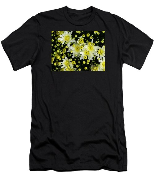 Yellow Mums Men's T-Shirt (Slim Fit) by Lyric Lucas