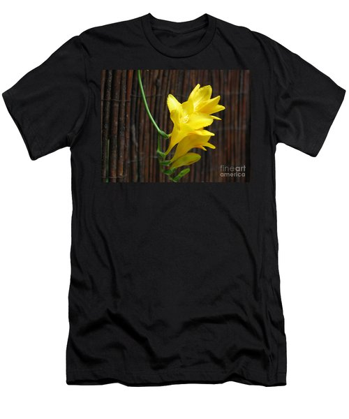 Yellow Petals Men's T-Shirt (Slim Fit) by HEVi FineArt