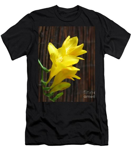 Yellow Petals Men's T-Shirt (Athletic Fit)