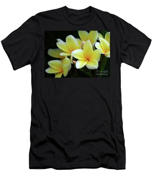 Yellow Plumeria Cascade Men's T-Shirt (Athletic Fit)