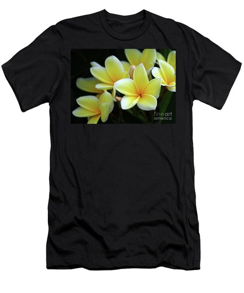 Yellow Plumeria Cascade Men's T-Shirt (Athletic Fit)