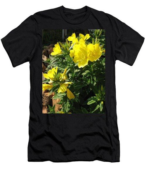 Yellow Primroses Men's T-Shirt (Athletic Fit)