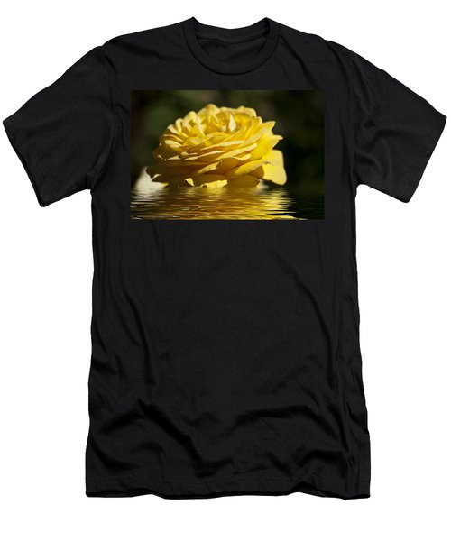 Yellow Rose Flood Men's T-Shirt (Athletic Fit)