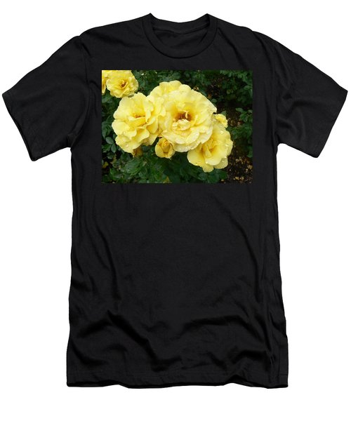Yellow Rose Of Pa Men's T-Shirt (Slim Fit) by Michael Porchik