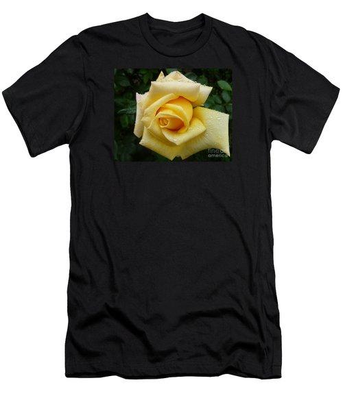Yellow Rose Say Goodbye Men's T-Shirt (Slim Fit) by Lingfai Leung