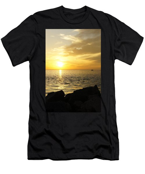 Yellow Sky Men's T-Shirt (Slim Fit) by Laurie Perry