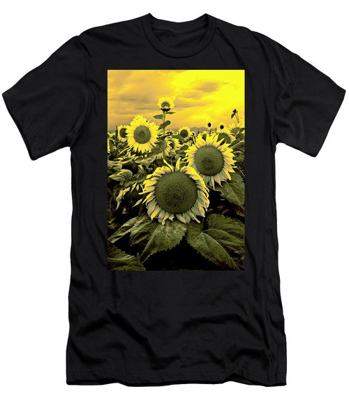 Yellow Sky Yellow Flowers. Men's T-Shirt (Athletic Fit)