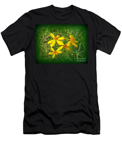 Yellow Quartet Men's T-Shirt (Athletic Fit)