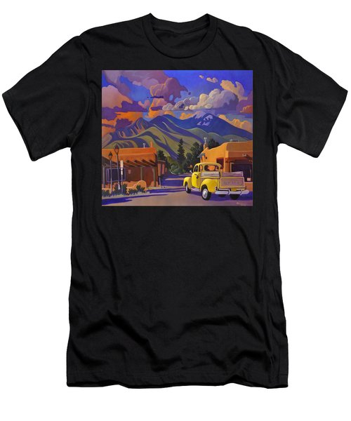 A Yellow Truck In Taos Men's T-Shirt (Athletic Fit)