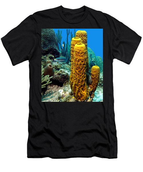 Yellow Tube Sponge Men's T-Shirt (Athletic Fit)
