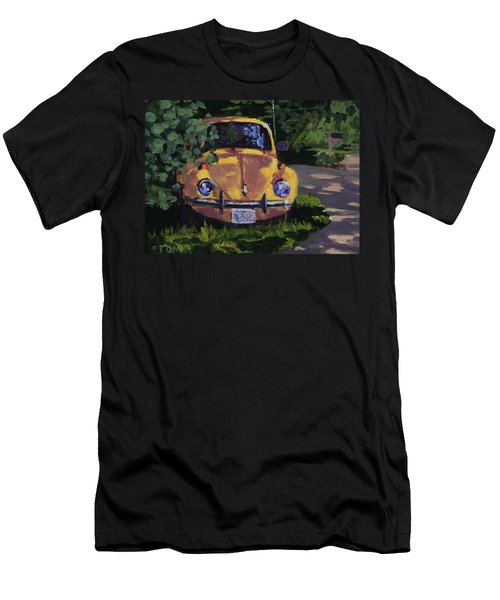 Yellow Vee Dub - Art By Bill Tomsa Men's T-Shirt (Athletic Fit)