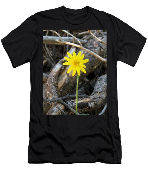Men's T-Shirt (Slim Fit) featuring the photograph Yellow Wildflower by Laurel Powell