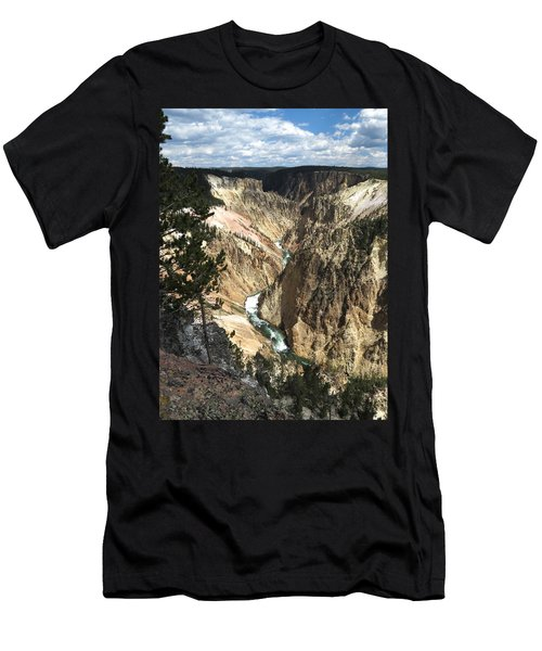 Men's T-Shirt (Slim Fit) featuring the photograph Yellowstone Canyon by Laurel Powell