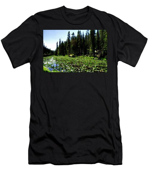 Yellowstone Lily Pads  Men's T-Shirt (Athletic Fit)