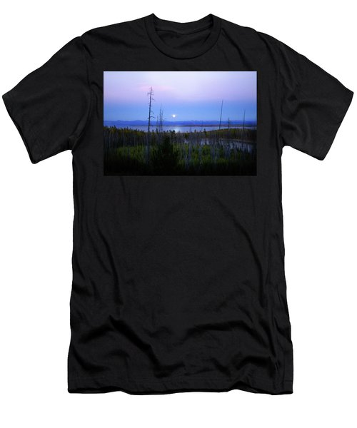 Yellowstone Moon Men's T-Shirt (Athletic Fit)