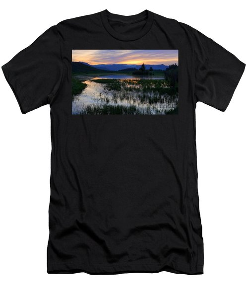 Yellowstone Sunrise Men's T-Shirt (Athletic Fit)