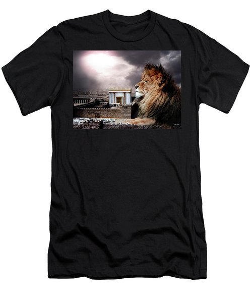 Yeshua In The Outer Court Men's T-Shirt (Athletic Fit)