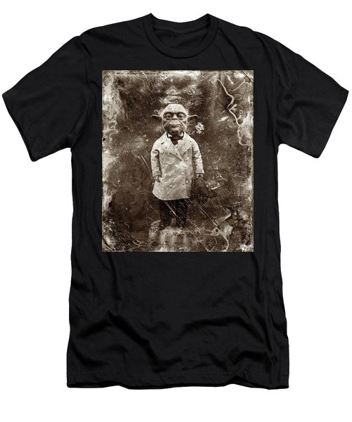 Yoda Star Wars Antique Photo Men's T-Shirt (Athletic Fit)
