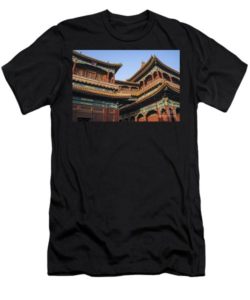 Yonghe Temple Aka Lama Temple In China Men's T-Shirt (Athletic Fit)