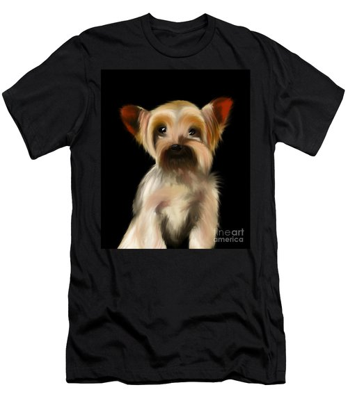 Yorkshire Terrier Pup Men's T-Shirt (Athletic Fit)