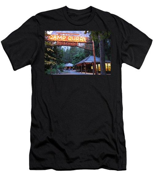Yosemite Curry Village Men's T-Shirt (Athletic Fit)