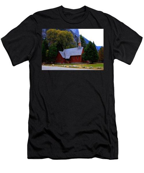 Yosemite Fall  Chapel  Men's T-Shirt (Athletic Fit)