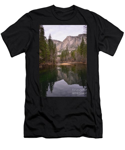 Yosemite Falls Reflection Men's T-Shirt (Athletic Fit)