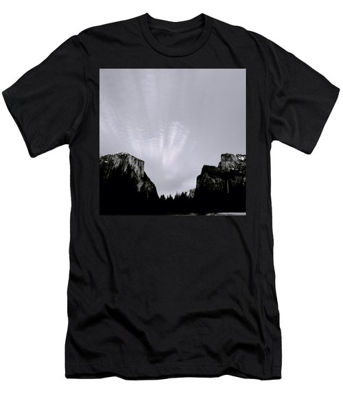 Yosemite National Park Men's T-Shirt (Slim Fit) by Shaun Higson