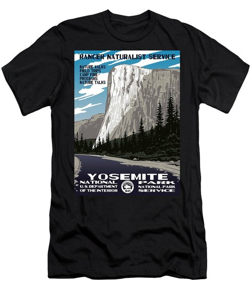 Yosemite National Park Vintage Poster 2 Men's T-Shirt (Athletic Fit)