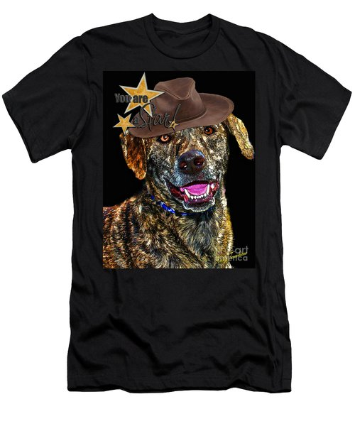 Men's T-Shirt (Athletic Fit) featuring the digital art You Are A Star by Kathy Tarochione