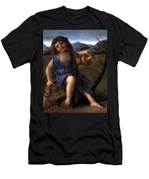 Men's T-Shirt (Slim Fit) featuring the painting Young Bacchus Dionysus Giovanni Bellini 1514 by Karon Melillo DeVega