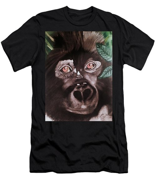 Young Gorilla Men's T-Shirt (Athletic Fit)