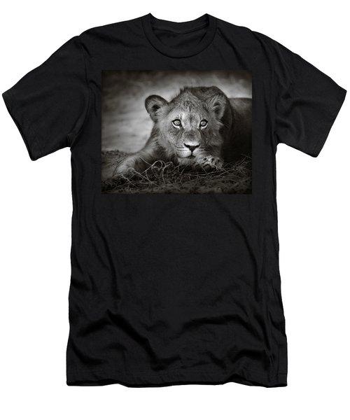 Young Lion Portrait Men's T-Shirt (Athletic Fit)
