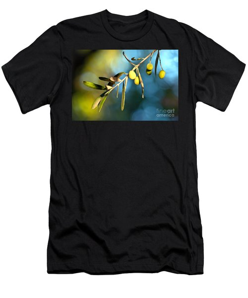 Young Olive On A Branch Men's T-Shirt (Athletic Fit)